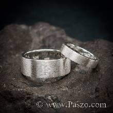 แหวนคู่รัก แหวนเกลี้ยง ปัดด้าน แหวนเงินแท้