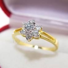 แหวนเพชร แหวนทอง แหวนดอกไม้ ทอง90