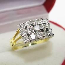 แหวนเพชร แหวนแถว แหวนทอง ทอง90