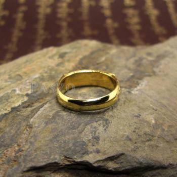แหวนนามสกุล แหวนลงยาสีน้ำเงิน แหวนทองแท้ #6