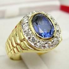 แหวนทองผู้ชาย แหวนไพลิน แหวนโรเล็กซ์ แหวนทองแท้ พลอยไพลิน ล้อมเพชร