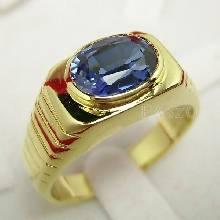 แหวนผู้ชาย พลอยไพลิน พลอยสีน้ำเงิน แหวนทองแท้ แหวนรุ่นเล็ก